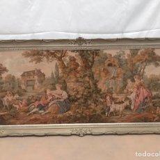 Varios objetos de Arte: TAPIZ FRANCÉS DE ÉPOCA ENMARCADO. Lote 202326276