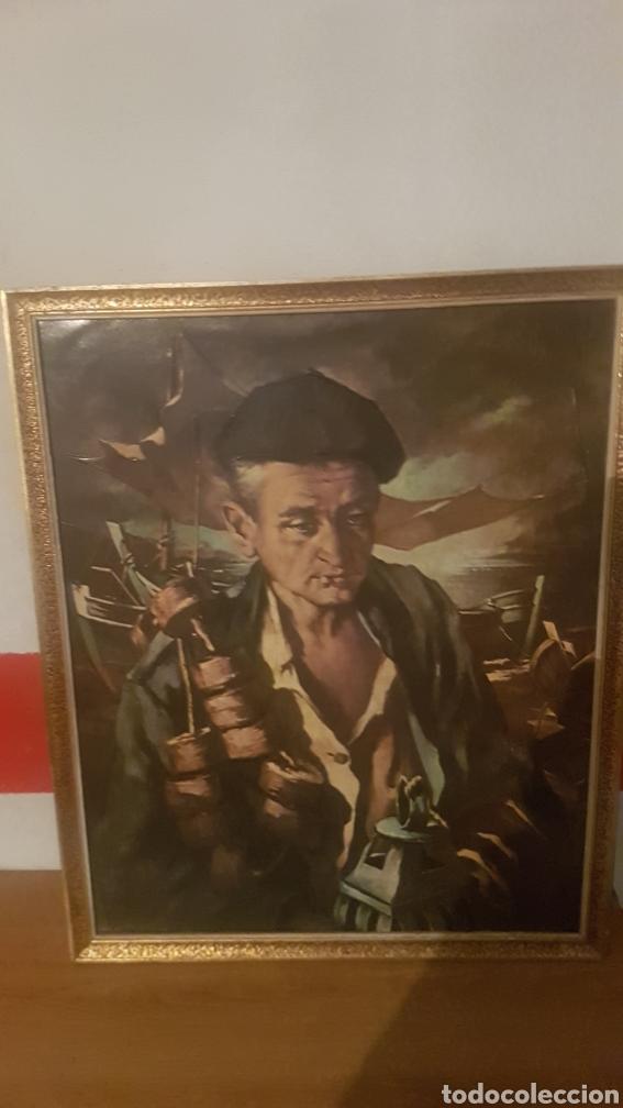 CUADRO DE MADERA CON MARCO HUETOS (Arte - Varios Objetos de Arte)