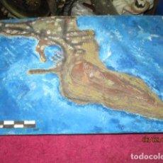 Varios objetos de Arte: DIORAMA O MAQUETA DE ALICANTE MAPA ANTIGUO ESCULTURA A ESCALA PUERTO MAR Y CIUDAD MONTE CASTILLO. Lote 44317472