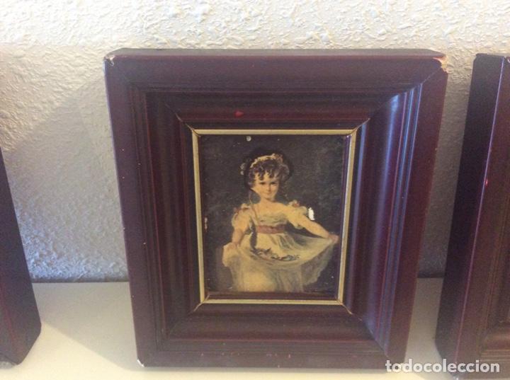 Varios objetos de Arte: Cuadros antiguos con señales de uso - Foto 3 - 203133630