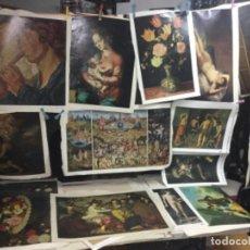 Art: 14 CUADROS CON ALGUNA TARA EN TELA ,LONA ,VER FOTOS ( VARIAS MEDIDAS ) REF 16. Lote 203577745