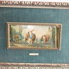 Varios objetos de Arte: EXCELENTE CUADRO ESMALTE ENMARCADO,G.DE AGUIRRE. Lote 203764378