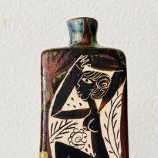 Varios objetos de Arte: BOTELLA ALTA PEQUEÑA CERÁMICA. Lote 203915032