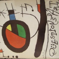 Varios objetos de Arte: REVISTA CATALANA QÜESTIONS D'ART - ARTE - MIRÓ - TEATRE I ESCOLA - GIRALT MIRACLE GUINOVART Nº 17. Lote 204000395