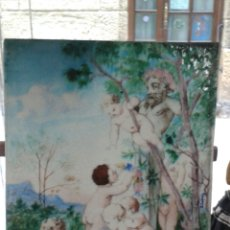 Varios objetos de Arte: PLACA DE CERAMICA ESMALTADA DE THEODORE DECK. Lote 204137805