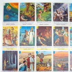 Varios objetos de Arte: ANTIGUO Y NUEVO TESTAMENTO. HISTORIA SAGRADA BIBLIA. FOURNIER. BARAJAS CON ILUSTRACIONES TIPO CROMOS. Lote 96589671