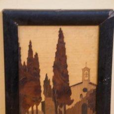 Varios objetos de Arte: BONITO CUADRO PAISAJE DE MARQUETERIA DE MADERA, ALEMAN. Lote 205189147