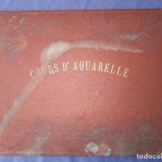 Varios objetos de Arte: COURS D'AQUARELLE EUG CICERI CURSO DE ACUARELLA 1882 ENCUADERNACION DE LUJO CON NUMEROSAS LAMINAS. Lote 205262606