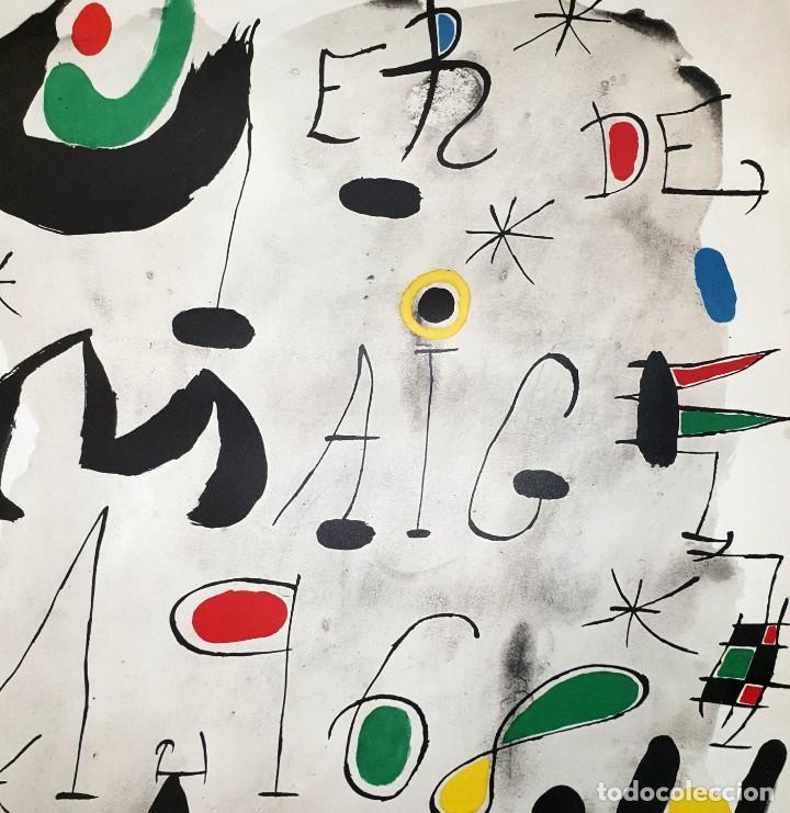 """Varios objetos de Arte: CARTEL LITOGRAFICO DE JOAN MIRO """"1ER DE MAIG 1968"""", IMPRENTA CASAMAJÓ, BARCELONA 1968 - Foto 3 - 205458497"""