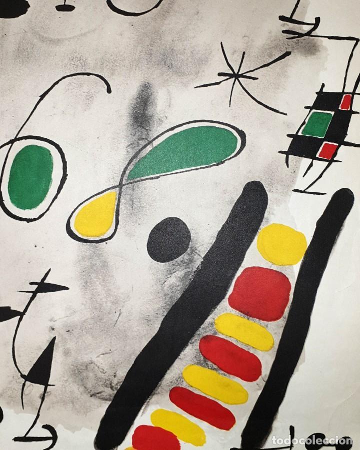 """Varios objetos de Arte: CARTEL LITOGRAFICO DE JOAN MIRO """"1ER DE MAIG 1968"""", IMPRENTA CASAMAJÓ, BARCELONA 1968 - Foto 4 - 205458497"""