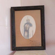 Varios objetos de Arte: FOTO ENMARCADA DE CORONEL DEDICADA A UN AMIGO ESTA FECHADA EN 1918. Lote 205531501