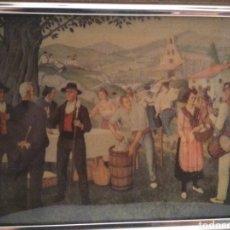 Varios objetos de Arte: ANTIGUO CUADRO JOSE ARRUE ESMALTADO ESCENA ROMERIA PAIS VASCO ESMALTE EUSKADI BASQUE. Lote 205745692