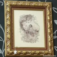 Varios objetos de Arte: PAREJA DE CUADROS, LÁMINAS ANGELITOS. Lote 205886370