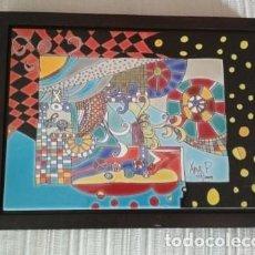 Varios objetos de Arte: CUADRO CERÁMICA ESMALTADA ENMARCADO - DE MÉXICO. Lote 206237552