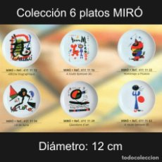 Varios objetos de Arte: PLATO DE PORCELANA 12 CM CON REPRODUCCIONES DE JOAN MIRÓ (COLECCIÓN 6 PLATOS). Lote 243640795
