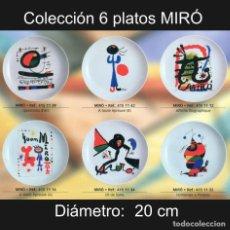 Varios objetos de Arte: PLATO DE PORCELANA 20 CM CON REPRODUCCIONES DE JOAN MIRÓ (COLECCIÓN 6 PLATOS). Lote 206269502