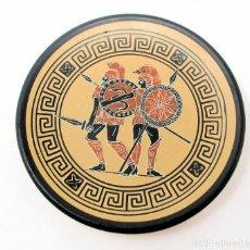 Varios objetos de Arte: REPRODUCCIÓN DE PLATO GRIEGO DE AKAMOS AND DIMOPHON NAPLES MUSEUM 480 B.C. 12,5 CM DIÁMETRO.. Lote 207127535