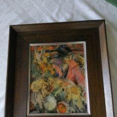 Varios objetos de Arte: TRISTEZA AUSENTE. JOAN CRUSPINERA. ESMALTE. 39X35 CM. ESMALTE 25X20 CM. MADE IN SPAIN. PRECIOSO.. Lote 207308440