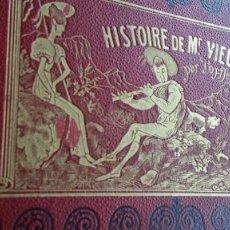 Varios objetos de Arte: RODOLPHE TOPFFER (1799-1846). HISTOIRE DE MR. VIEUX-BOIS PARIS, 1860, CARICATURAS, COMIC. Lote 207812783