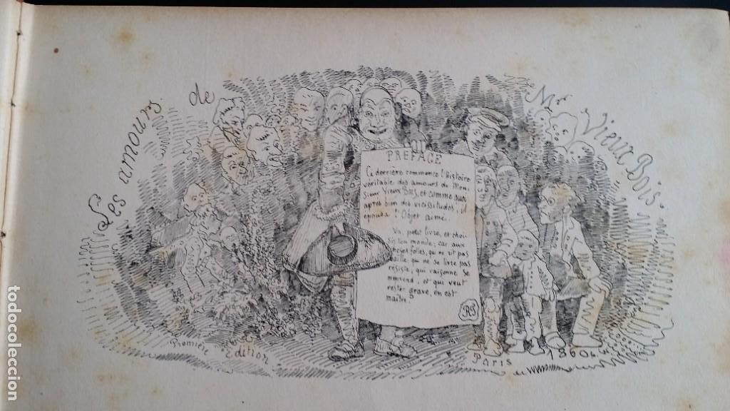Varios objetos de Arte: Rodolphe TOPFFER (1799-1846). Histoire de Mr. Vieux-Bois Paris, 1860, CARICATURAS, COMIC - Foto 8 - 207812783