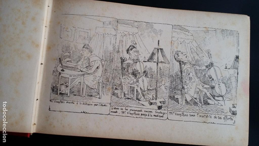Varios objetos de Arte: Rodolphe TOPFFER (1799-1846). Histoire de Mr. Vieux-Bois Paris, 1860, CARICATURAS, COMIC - Foto 9 - 207812783