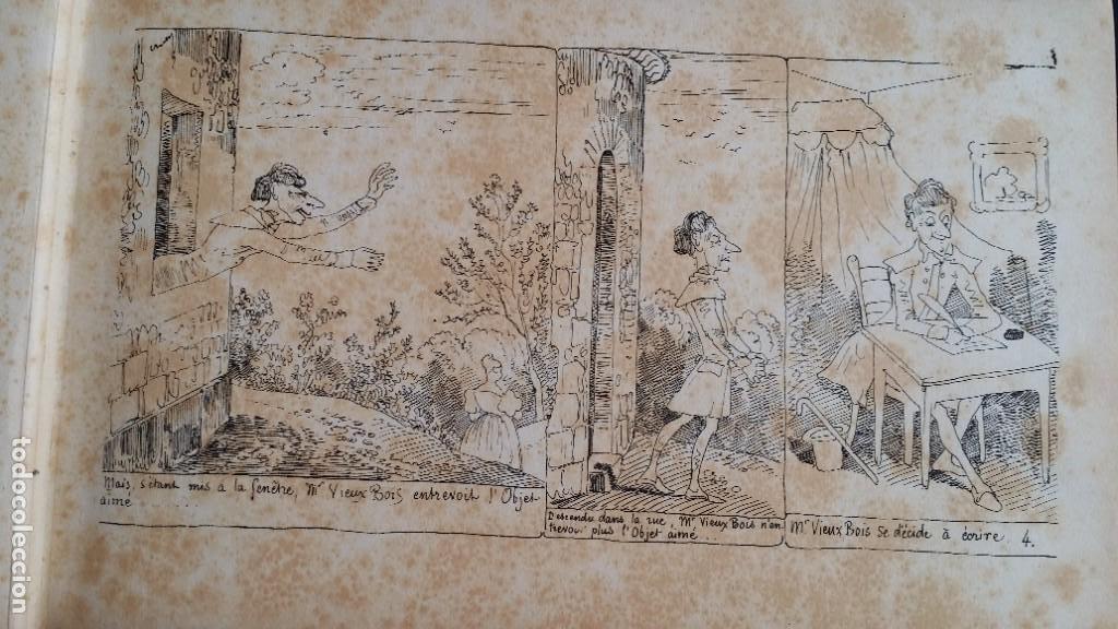 Varios objetos de Arte: Rodolphe TOPFFER (1799-1846). Histoire de Mr. Vieux-Bois Paris, 1860, CARICATURAS, COMIC - Foto 10 - 207812783