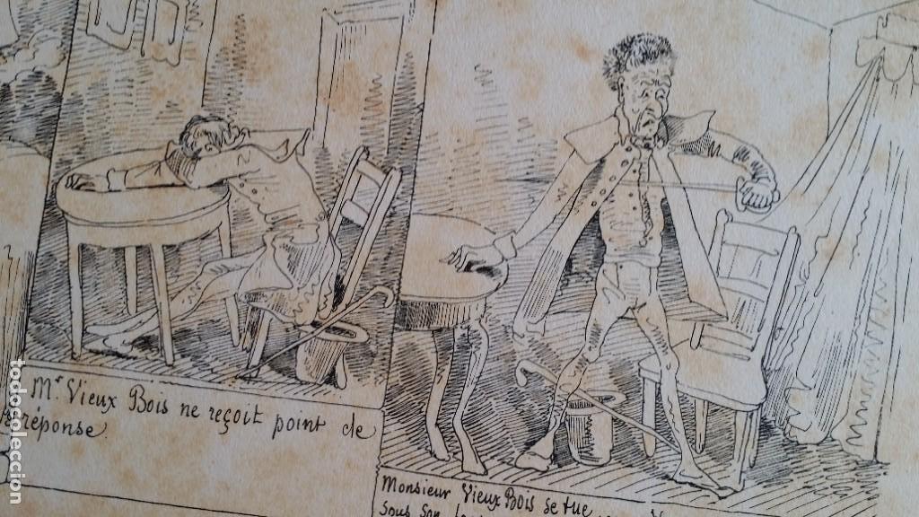 Varios objetos de Arte: Rodolphe TOPFFER (1799-1846). Histoire de Mr. Vieux-Bois Paris, 1860, CARICATURAS, COMIC - Foto 11 - 207812783