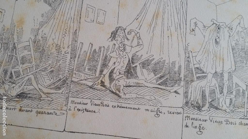 Varios objetos de Arte: Rodolphe TOPFFER (1799-1846). Histoire de Mr. Vieux-Bois Paris, 1860, CARICATURAS, COMIC - Foto 12 - 207812783