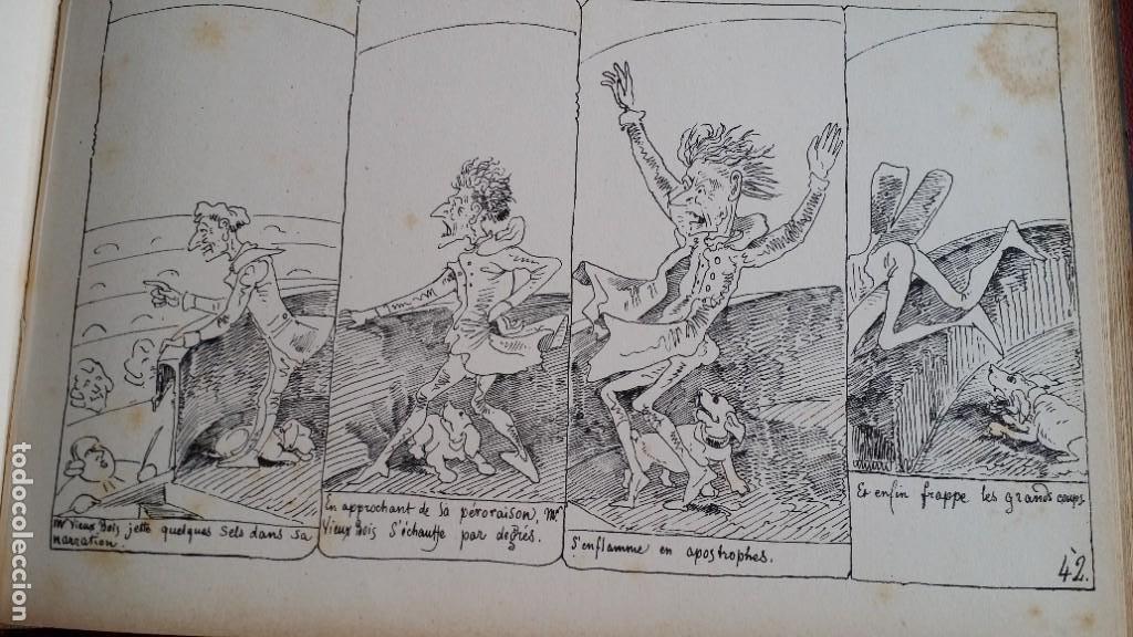 Varios objetos de Arte: Rodolphe TOPFFER (1799-1846). Histoire de Mr. Vieux-Bois Paris, 1860, CARICATURAS, COMIC - Foto 15 - 207812783