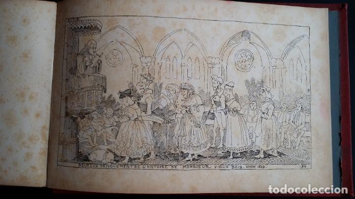 Varios objetos de Arte: Rodolphe TOPFFER (1799-1846). Histoire de Mr. Vieux-Bois Paris, 1860, CARICATURAS, COMIC - Foto 24 - 207812783