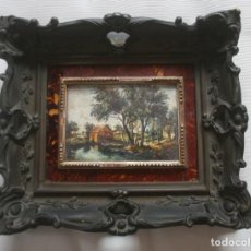 Varios objetos de Arte: ANTIGUO CUADRO ESCENA CAMPESINA FIRMADO IGNORO TECNICA – CON DOBLE MARCO CON MAGNIFICO RELIEVE. Lote 207929113