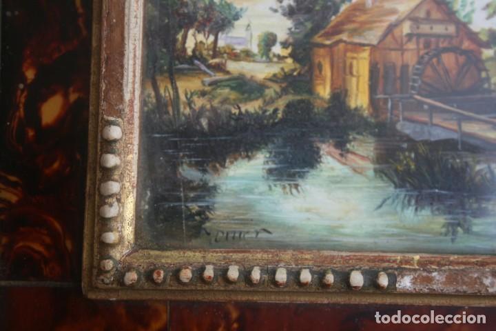 Varios objetos de Arte: ANTIGUO CUADRO ESCENA CAMPESINA FIRMADO IGNORO TECNICA – CON DOBLE MARCO CON MAGNIFICO RELIEVE - Foto 3 - 207929113