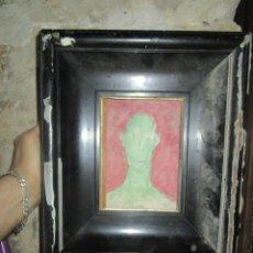 Varios objetos de Arte: RETRATO ANTIGUA PINTURA ,FIRMADA. Lote 208226445