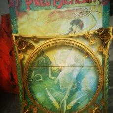 Varios objetos de Arte: ANTIGUO MARCO DORADO DE METAL PARA PINTURA O ESPEJO REDONDO. Lote 208523595