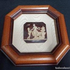 Varios objetos de Arte: CUADRO CON RELIEVE DE ESCENA CLÁSICA. PF. Lote 208594022