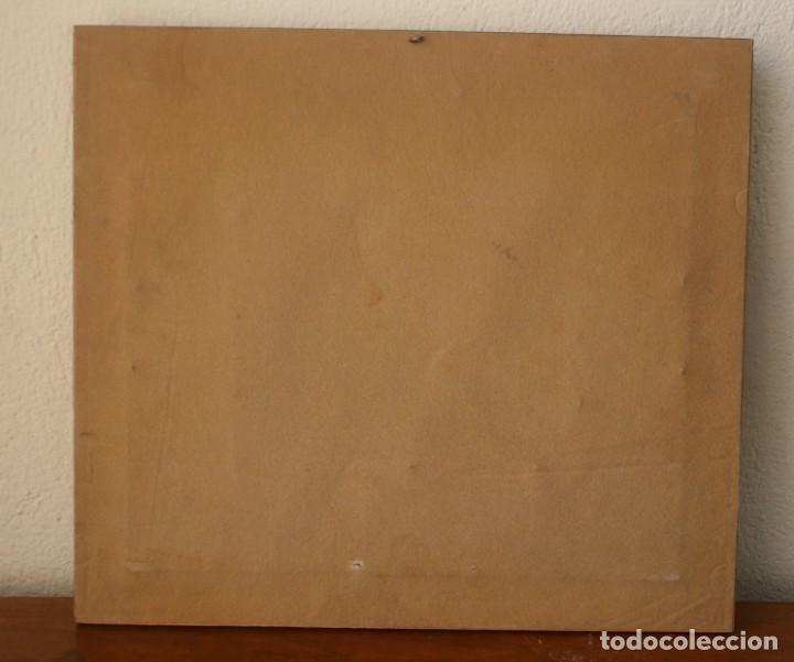 Varios objetos de Arte: CUADRO REPRODUCCION ANTIGUO OLEO PINTURA ARTISTA PINTOR FIRMADO J. SENABRE – BOBLE MARCO Y PASPARTU - Foto 6 - 208871258