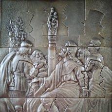 Art: APARICIÓN DE LA VIRGEN DEL PILAR A SANTIAGO - GOYA - PUZZLE METÁLICO. Lote 209070775