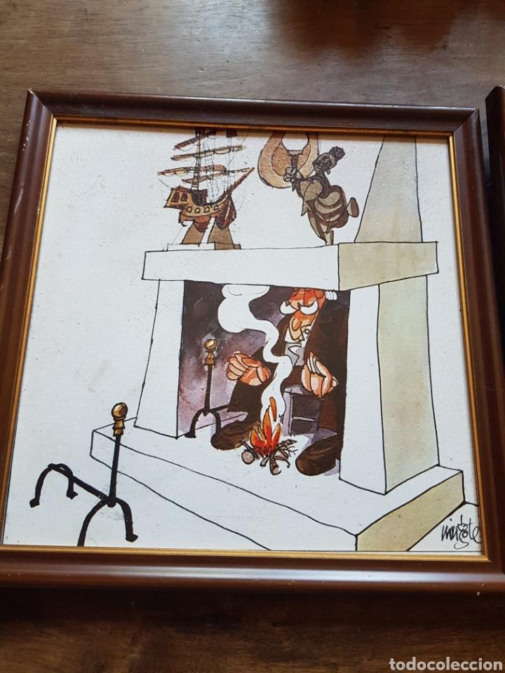 Varios objetos de Arte: Par cuadros viñetas Mingote zxy - Foto 2 - 253573895
