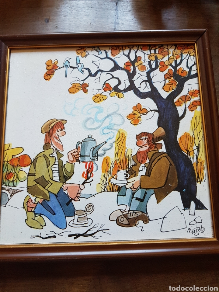 Varios objetos de Arte: Par cuadros viñetas Mingote zxy - Foto 3 - 253573895