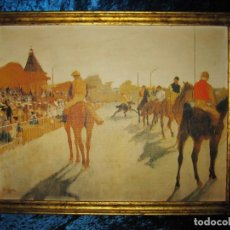 Varios objetos de Arte: CUADRO EL DESFILE O CABALLOS ANTE LAS GRADAS DE EDGAR DEGÁS HÍPICA. Lote 209960206