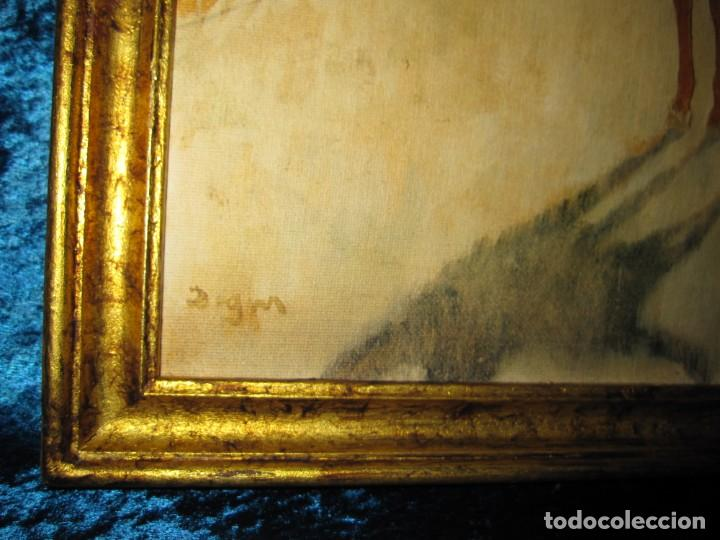 Varios objetos de Arte: Cuadro El desfile o Caballos ante las gradas de Edgar Degás hípica - Foto 2 - 209960206