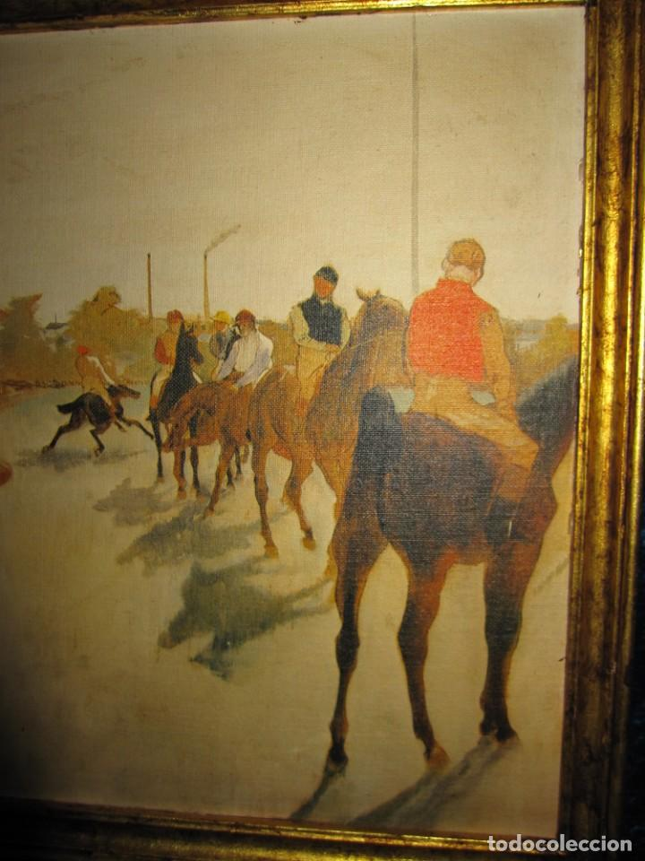 Varios objetos de Arte: Cuadro El desfile o Caballos ante las gradas de Edgar Degás hípica - Foto 4 - 209960206