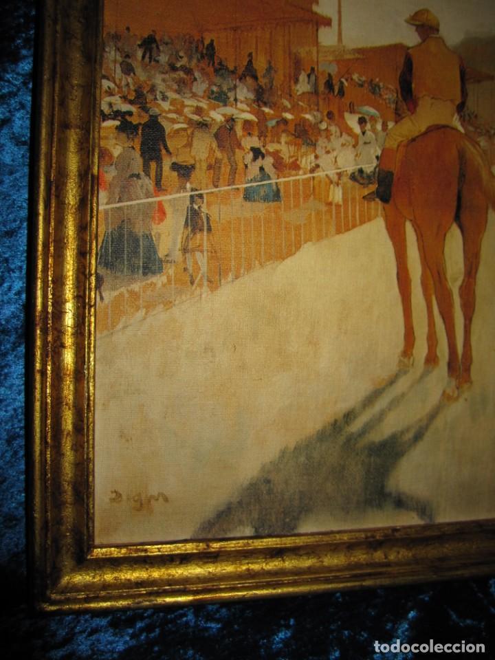 Varios objetos de Arte: Cuadro El desfile o Caballos ante las gradas de Edgar Degás hípica - Foto 5 - 209960206