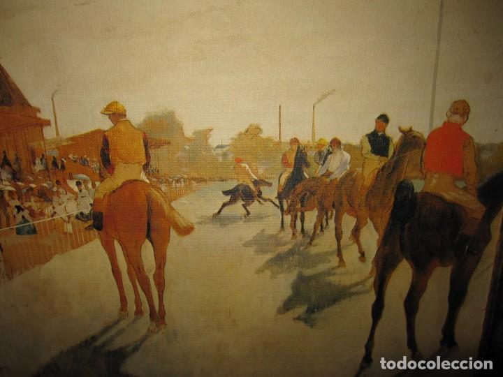 Varios objetos de Arte: Cuadro El desfile o Caballos ante las gradas de Edgar Degás hípica - Foto 6 - 209960206