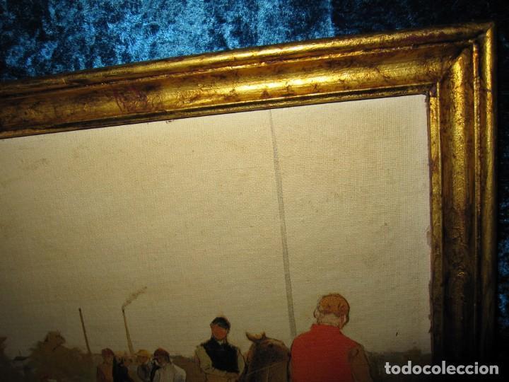 Varios objetos de Arte: Cuadro El desfile o Caballos ante las gradas de Edgar Degás hípica - Foto 7 - 209960206