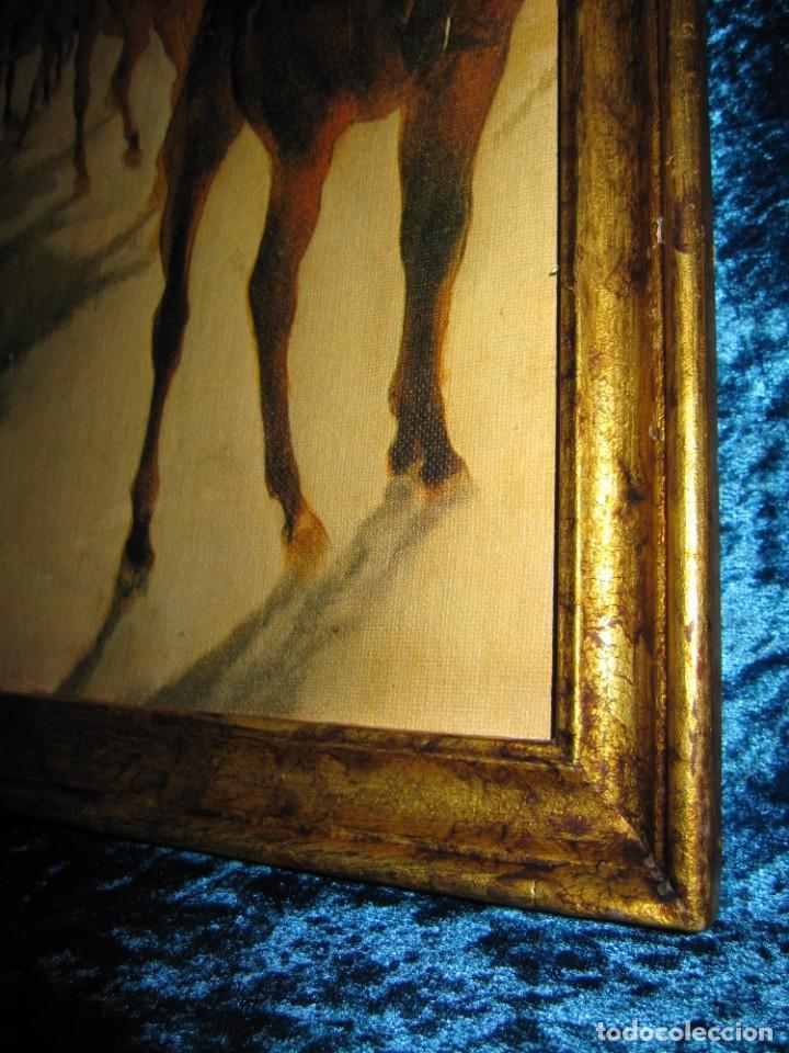 Varios objetos de Arte: Cuadro El desfile o Caballos ante las gradas de Edgar Degás hípica - Foto 8 - 209960206