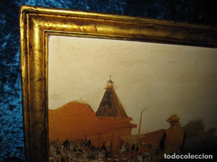 Varios objetos de Arte: Cuadro El desfile o Caballos ante las gradas de Edgar Degás hípica - Foto 9 - 209960206