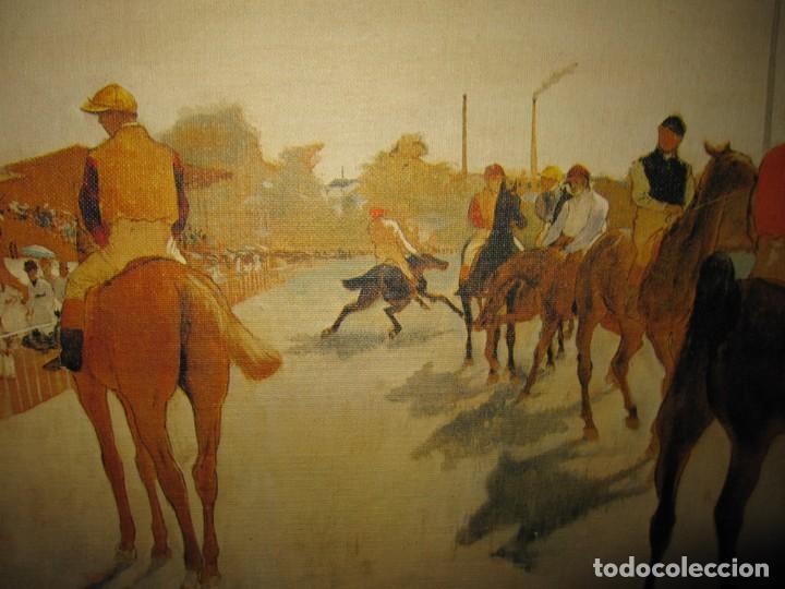 Varios objetos de Arte: Cuadro El desfile o Caballos ante las gradas de Edgar Degás hípica - Foto 10 - 209960206