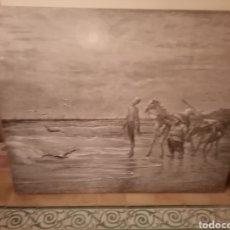 Varios objetos de Arte: GRAN CUADRO DON QUIJOTE Y SANCHO PANZA. Lote 210157852