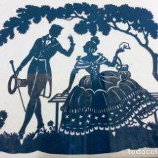 Varios objetos de Arte: SILUETA ORIGINAL FINALES S. XIX.. Lote 210343143